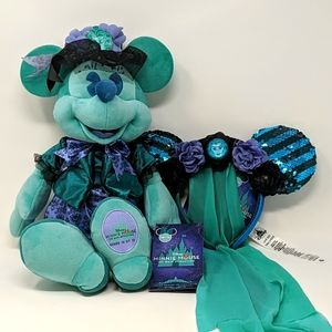 Disney Minnie Mouse Haunted Mansion Ears & Plush